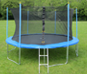 Internal safety net trampolines