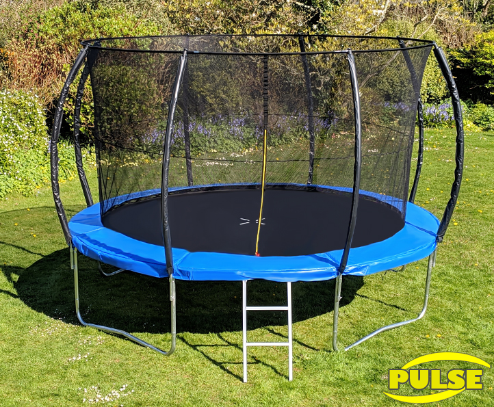 14ft Pulse Blue trampoline