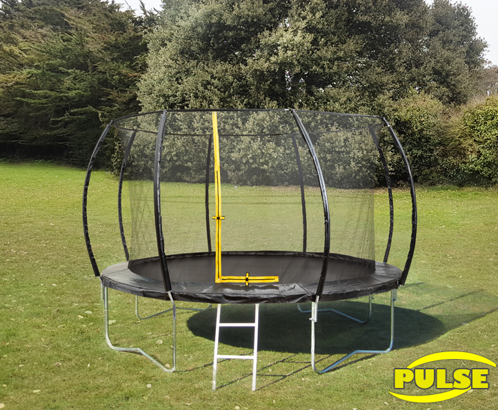 12ft Pulse Black trampoline