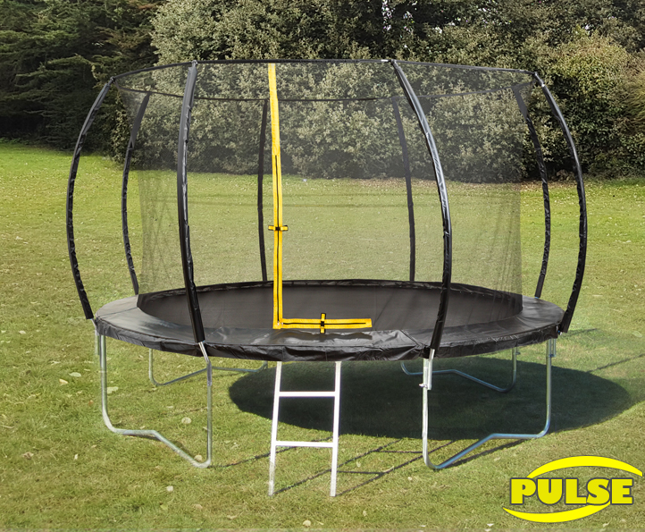 14ft Pulse Black trampoline