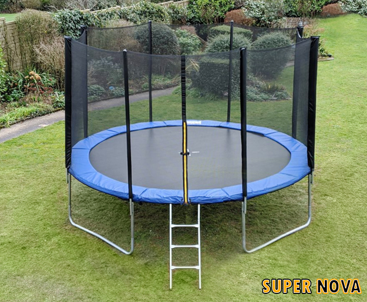 12ft Supernova Blue trampoline