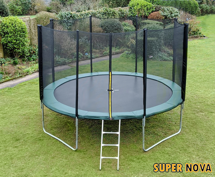 12ft Supernova Green trampoline