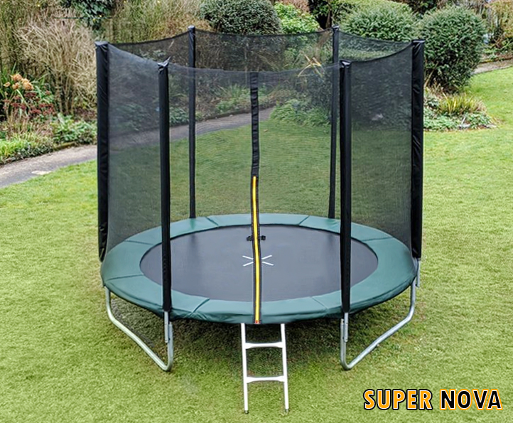 8ft Supernova Green trampoline